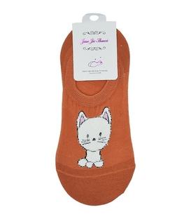 جوراب کالج پشت ژلهای طرح گربه ملوس گوش صورتی