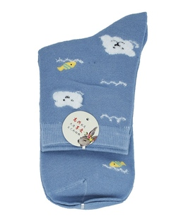 جوراب نیم ساق طرح خرس ماهیگیر