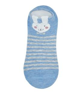جوراب قوزکی گوشدار طرح خرگوش آبی