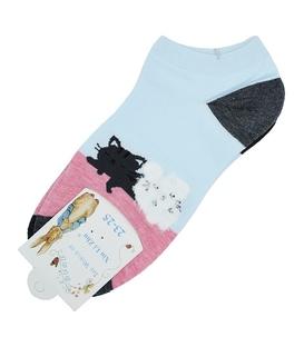 جوراب قوزکی طرح گربههای خوابالو