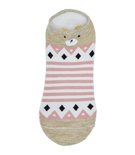 جوراب قوزکی گوشدار طرح خرس بی تفاوت