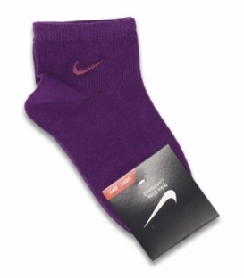 جوراب بچگانه نیم ساق طرح Nike بنفش