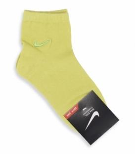 جوراب بچگانه نیم ساق طرح Nike سبز فسفری