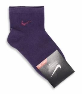 جوراب بچگانه نیم ساق طرح Nike بنفش تیره