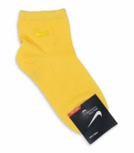 جوراب بچگانه نیم ساق طرح Nike زرد