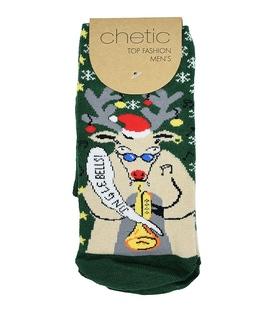 جوراب Chetic چتیک طرح گوزن کریسمس