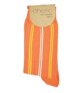جوراب Chetic چتیک طرح راهراه کلاسیک نارنجی