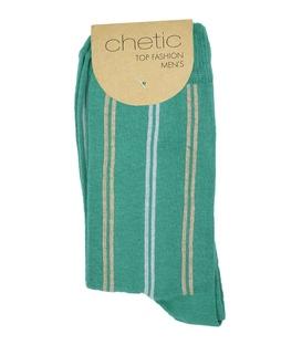 جوراب Chetic چتیک طرح راهراه کلاسیک سبز