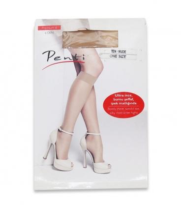 جوراب Penti پنتی زیر زانو مدل Premium 6 ضخامت 6 کرم Nude