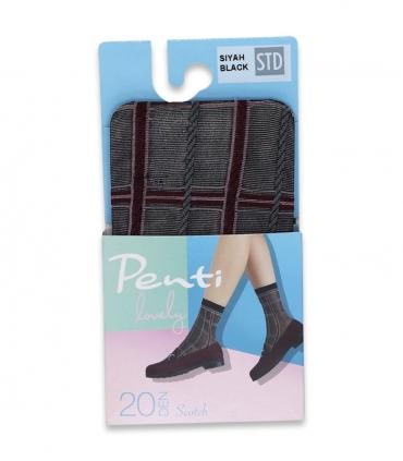 جوراب Penti پنتی ساقدار مدل Scotch ضخامت 20 مشکی Black