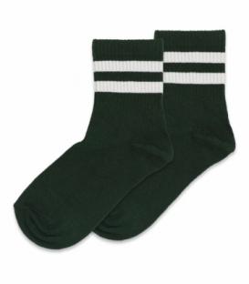 جوراب نیم ساق Ekmen اکمن طرح دو خط سبز یشمی
