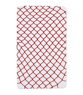 جوراب شلواری طرح فیش نت (زنبوری) قرمز