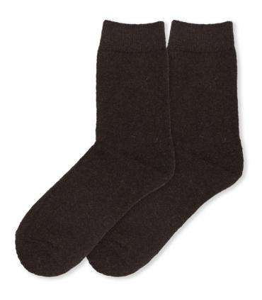 جوراب پشمی حولهای آنگورا Coco & Hana ساقدار ساده قهوهای