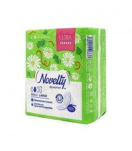 نوار بهداشتی بالدار خیلی نازک کتانی معطر Novelty ناولتی مدل Ultra بزرگ ویژه روز - بسته 8 عددی