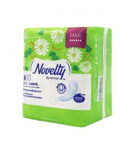 نوار بهداشتی بالدار ضخیم کتانی معطر Novelty ناولتی مدل Maxi بزرگ ویژه روز - بسته 8 عددی