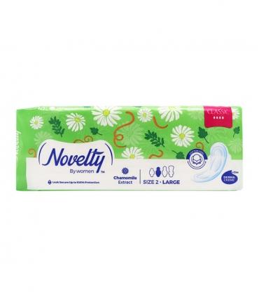نوار بهداشتی بالدار ضخیم کتانی معطر Novelty ناولتی مدل Classic بزرگ ویژه روز - بسته 10 عددی