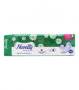 نوار بهداشتی بالدار بسیار ضخیم کتانی معطر Novelty ناولتی مدل Classic خیلی بزرگ ویژه شب - بسته 8 عددی
