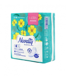 نوار بهداشتی بالدار خیلی نازک مشبک معطر Novelty ناولتی مدل Ultra بزرگ ویژه روز - بسته 8 عددی