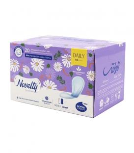 پد بهداشتی روزانه خیلی نازک کتانی معطر Novelty ناولتی بزرگ - بسته 20 عددی