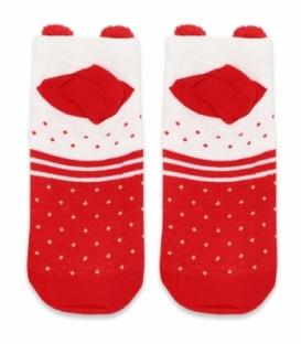 جوراب مچی گوشدار طرح روباه کریسمسی