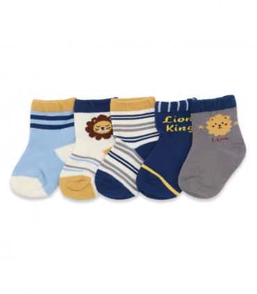 پک جوراب بچگانه نیم ساق طرح Lion King شیر پادشاه - ۵ جفت