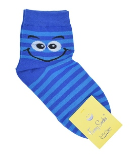 جوراب نیمساق فانی ساکس زنانه شکلک آبی