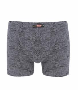 پک شورت مردانه پادار نخی کیان تن پوش مدل استاندارد طرح ابر و باد زرشکی و خاکستری - بسته 2 عددی