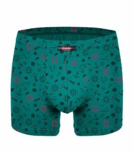 پک شورت مردانه پادار نخی کیان تن پوش مدل استاندارد طرح ملوان سبز و آبی - بسته 2 عددی