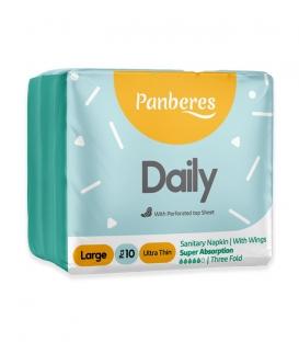 نوار بهداشتی بالدار خیلی نازک مشبک Panberes پنبه ریز بزرگ روزانه - بسته 10 عددی