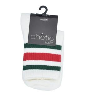 جوراب نیم ساق Chetic چتیک طرح سه خط سفید