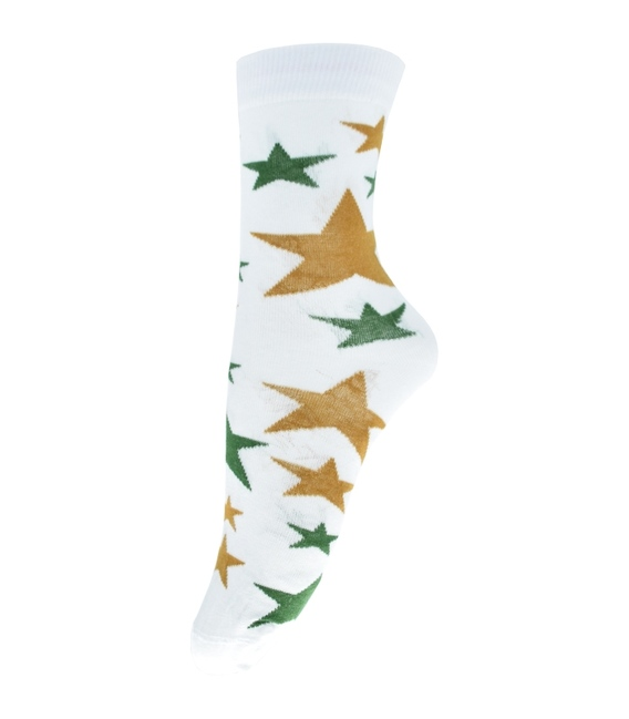 جوراب ساق دار فانی ساکس طرح ستاره سفید کد 710