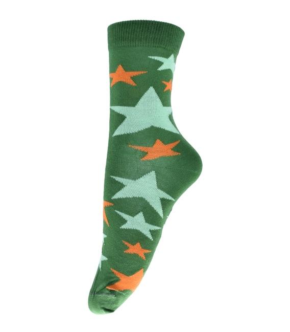 جوراب ساق دار فانی ساکس طرح ستاره سبز کد 710