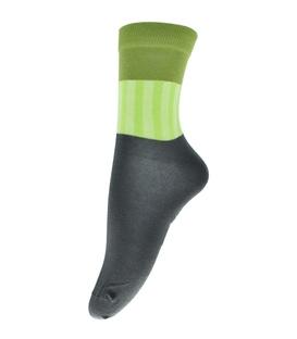 جوراب فانی ساکس ساقدار طرح سه رنگ خاکستری سبز کد 714