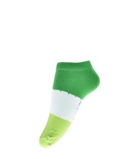 جوراب فانی ساکس مچی طرح سه رنگ سبز کد 1017