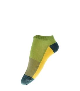 جوراب فانی ساکس مچی طرح چهار رنگ سبز زرد کد 1036