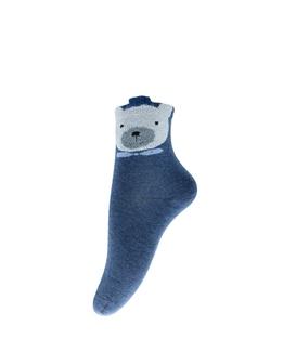 جوراب نیم ساق طرح خرس پشمالو سرمهای