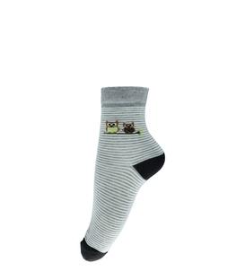جوراب نیم ساق طرح دو جغد خاکستری