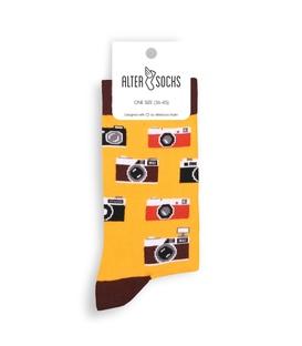 جوراب Alter Socks طرح دوربین زرد