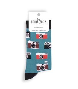 جوراب Alter Socks طرح دوربین آبی