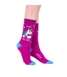 جوراب Alter Socks طرح تکشاخ صورتی
