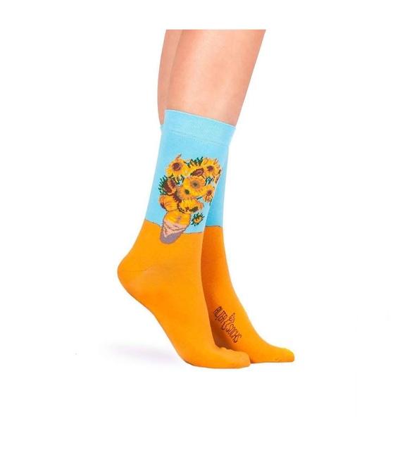 جوراب Alter Socks طرح گل آفتابگردان ونسان ون گوگ