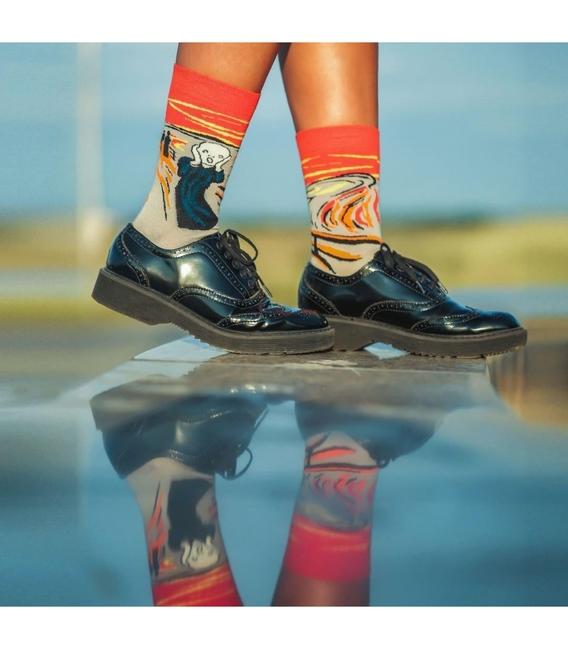 جوراب Alter Socks طرح جیغ ادوارد مونک