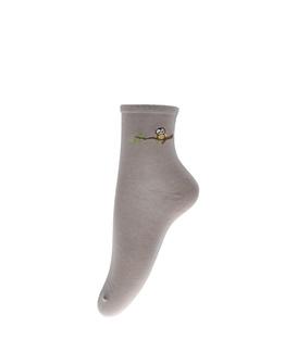 جوراب نیم ساق طرح گنجشک قهوهای