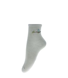 جوراب نیم ساق طرح گنجشک سبز