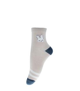 جوراب نیم ساق طرح خرگوش خاکی سرمهای
