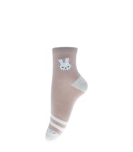 جوراب نیم ساق طرح خرگوش خاکی خاکستری