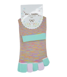 جوراب انگشتی طرح رنگارنگ نعنایی
