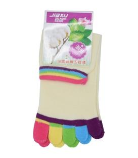 جوراب انگشتی شیری