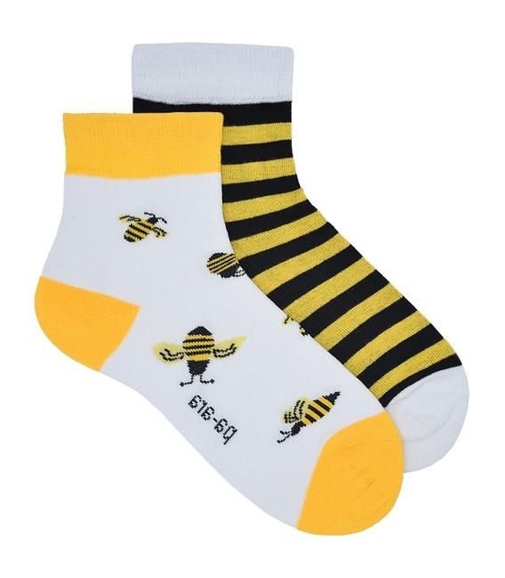 جوراب نانو نیم ساق پاآرا طرح زنبور عسل