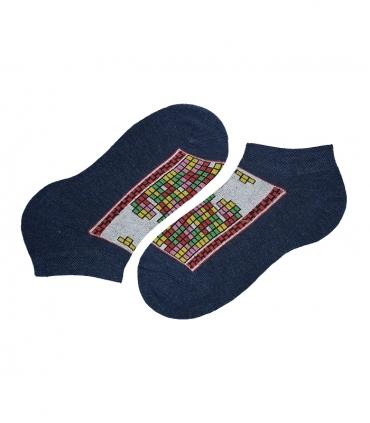 جوراب مچی پاآرا طرح خونه سازی سرمهای